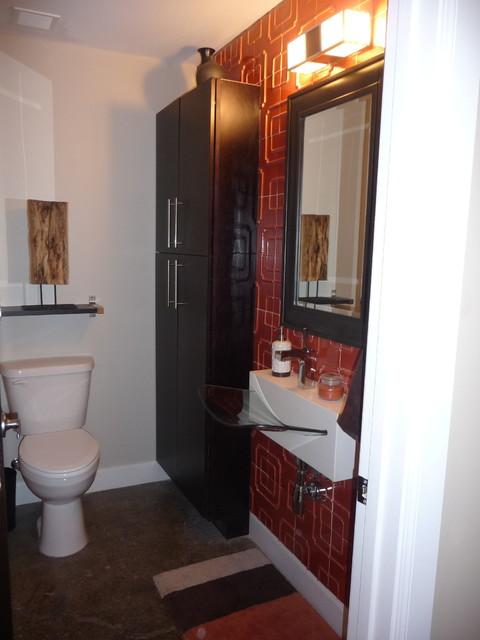 Downtown Loft Design & Decor - New Construction contemporary-bathroom