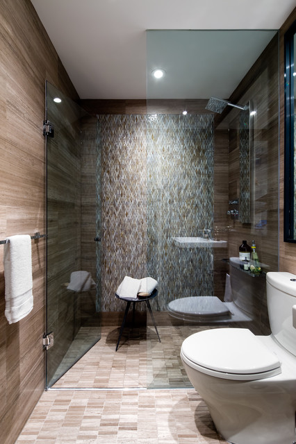 Downtown toronto condo contemporary bathroom other for Condo bathroom designs