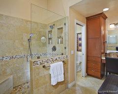 Dramatic Master Bath & Fireplace Remodel University City contemporary-bathroom
