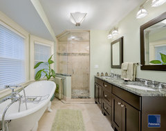 Dramatic Master Bath Renovation traditional-bathroom
