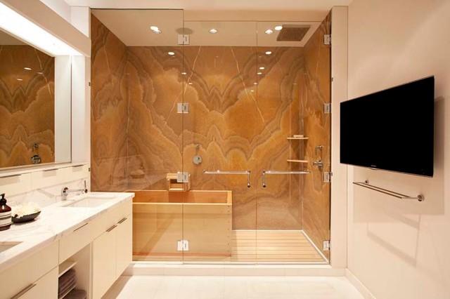 Dramatic master bath bathroom hawaii by vif studio for Dramatic bathroom designs