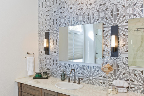 Weekend design art deco styling takes master bath from - Signature designs kitchen and bath ...