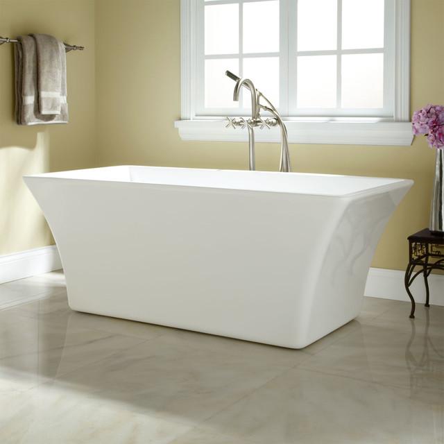 draque acrylic freestanding tub - contemporary - bathroom