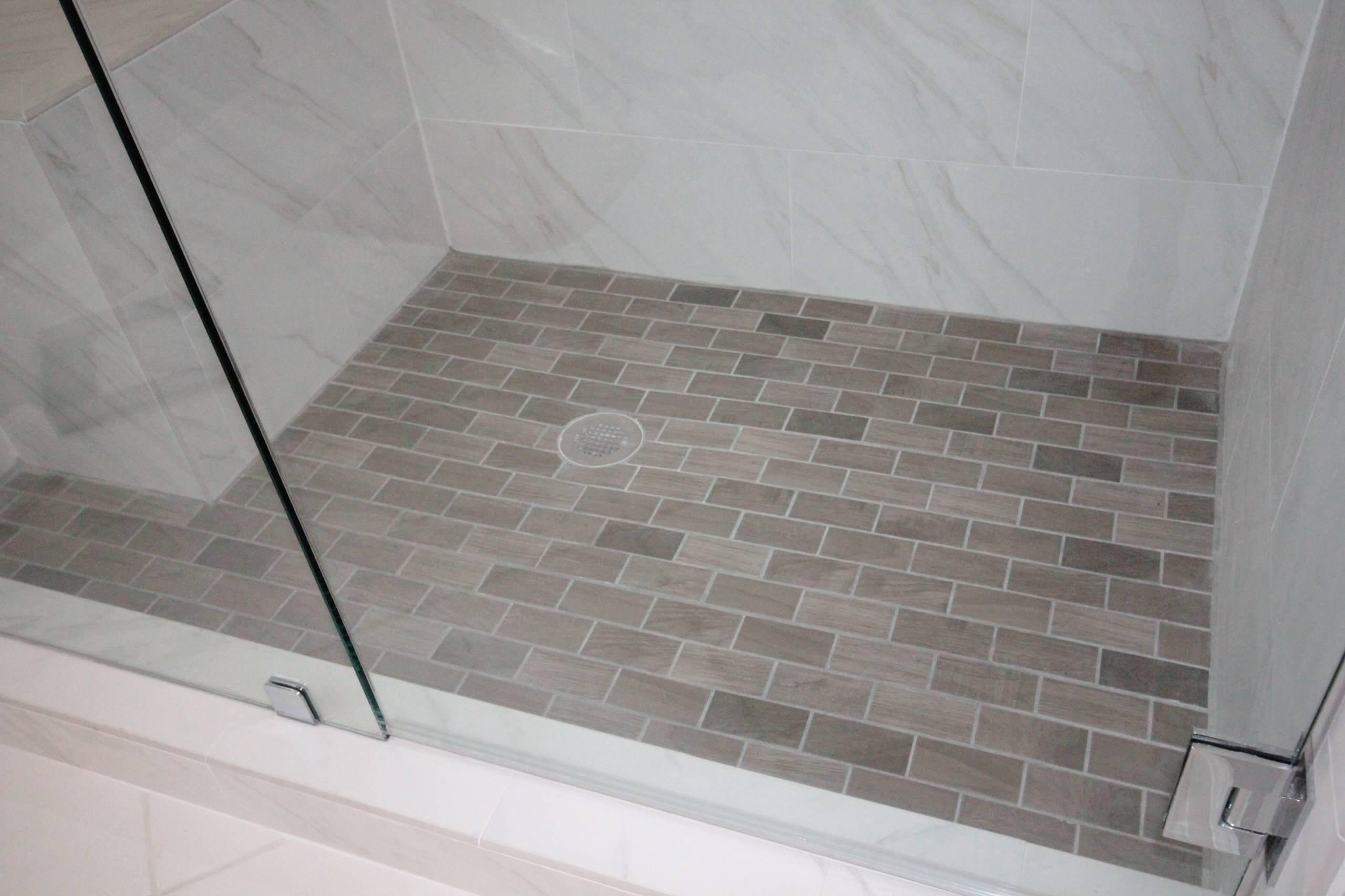 Driftwood look tile floor