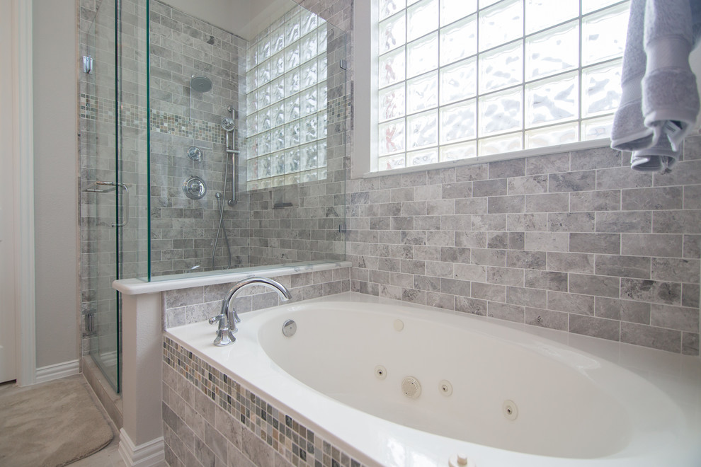 Drop In Jacuzzi Tub Privacy Glass Custom Tile