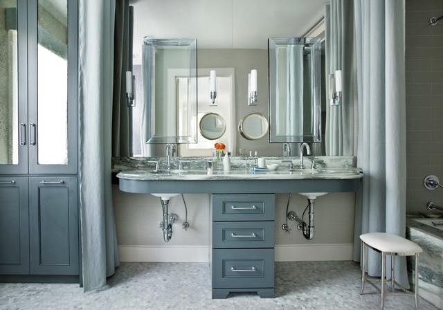 Perfect Transitional Bathroom by Mark Williams Design Associates