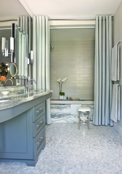 Bathroom Conundrum A Shower Curtain Or Door