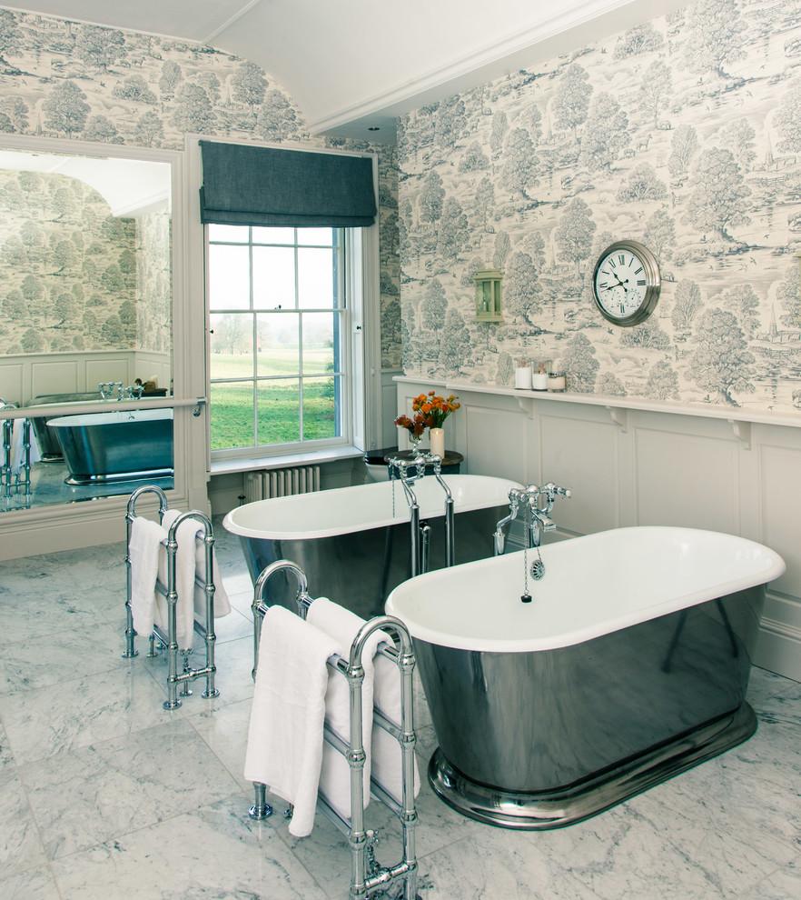 Bathroom - french country bathroom idea in London