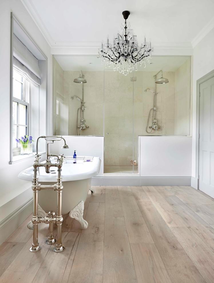 Example of a country bathroom design in Surrey