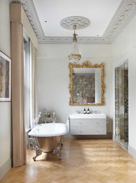 Drummonds Case Study: London Townhouse, Maida Vale contemporary-bathroom