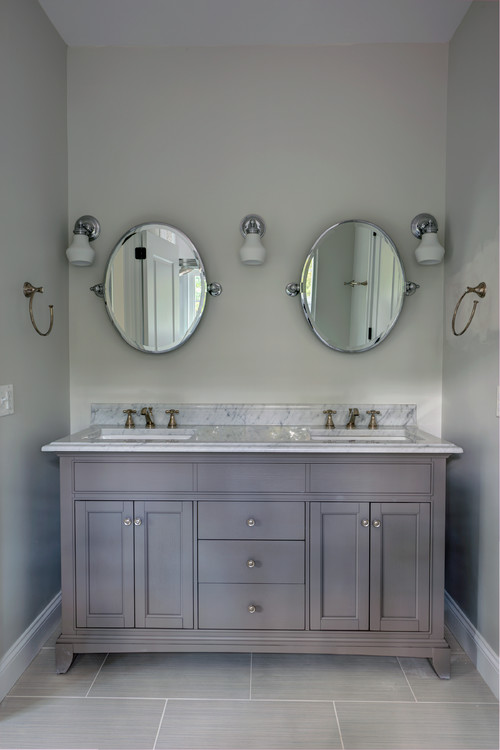 Dual Fitted Furniture Vanity Cabinets