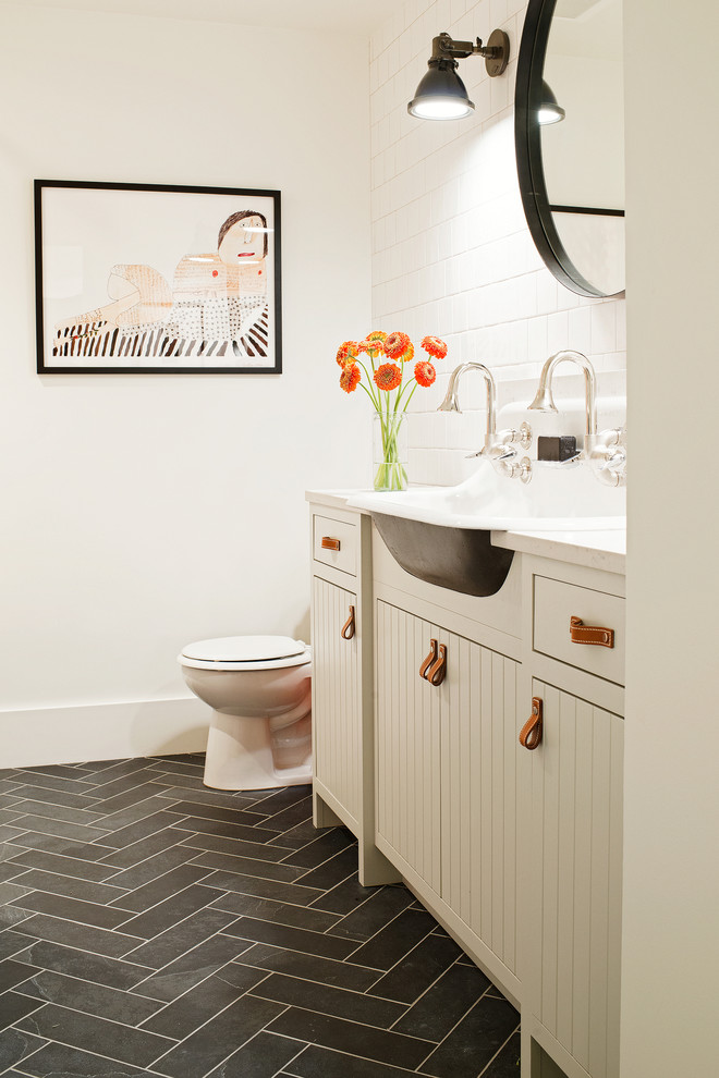 Inspiration for an industrial bathroom remodel in San Francisco