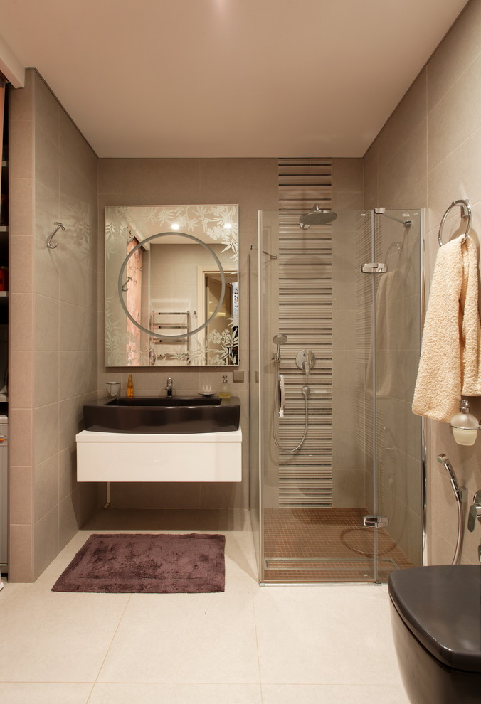 Example of a trendy bathroom design in Moscow