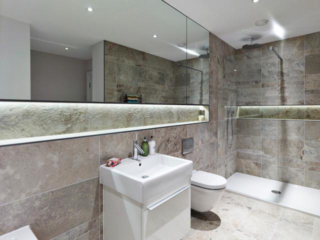 Dunham Mount Cheshire Contemporary Bathroom Manchester By Curve Interior Design Ltd