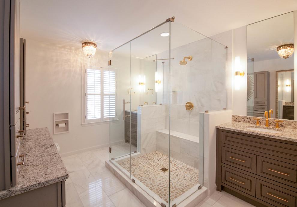 Dunwoody Transitional Master Bathroom - Transitional ...