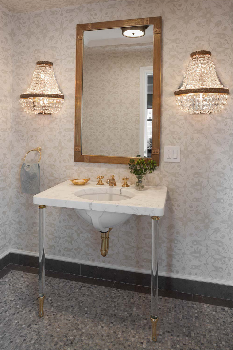 Duplex Apartment Powder Room