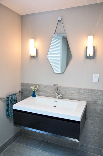 Duplex Near Harvard Square Cambridge Massachusetts Contemporary Bathroom Boston By Don
