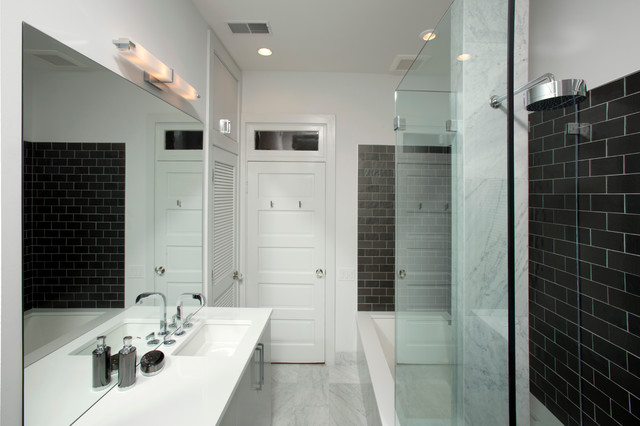 Dupont Circle Guest Bath contemporary-bathroom