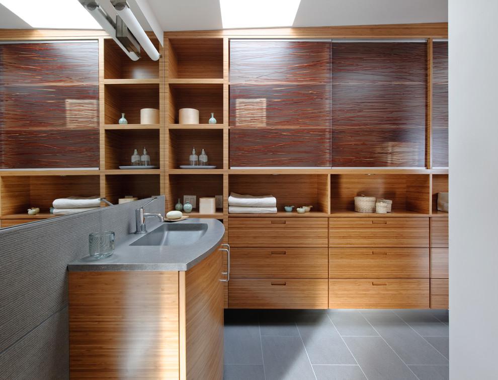 Bathroom - industrial bathroom idea in Seattle