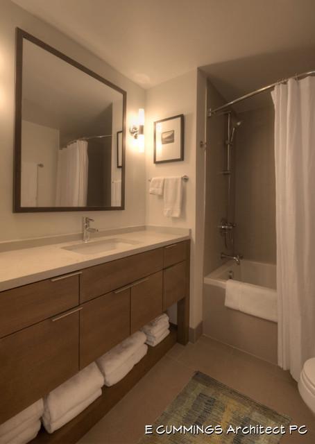 E CUMMINGS Architect PC contemporary-bathroom