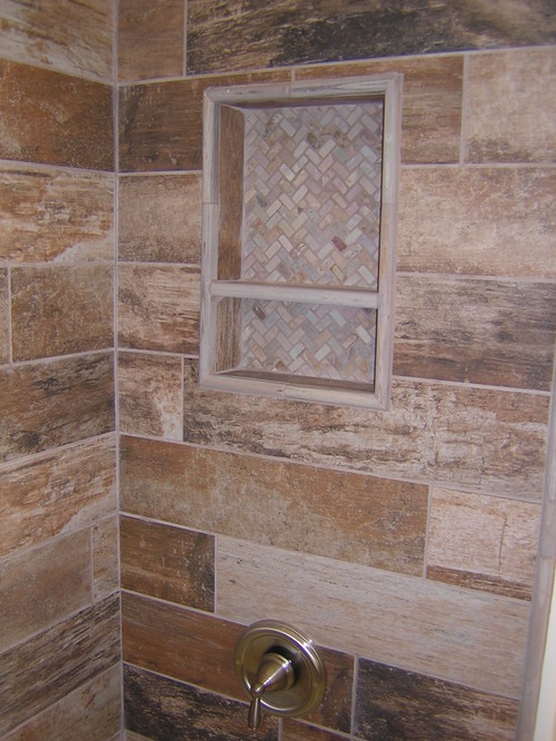 Shower tile for Rustic tile bathroom ideas