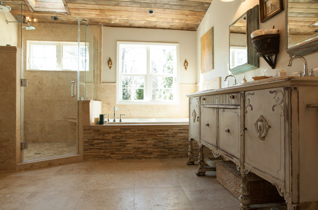 Earth Tone Master Bath