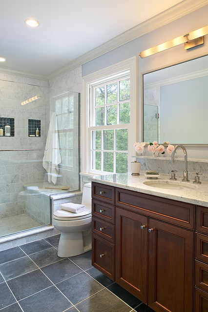 East Hampton Colonial traditional bathroom