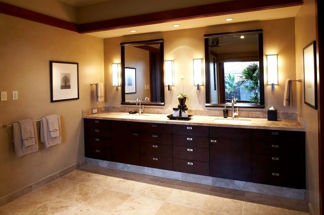 East meets west contemporary bathroom