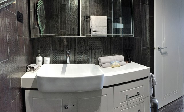 East Melbourne Apartment Transitional Bathroom Melbourne By Creative Elegance Interiors