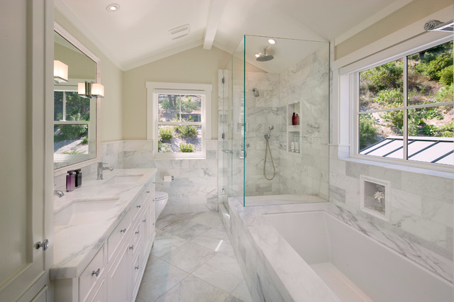 East mountain traditional bathroom for All white bathrooms ideas