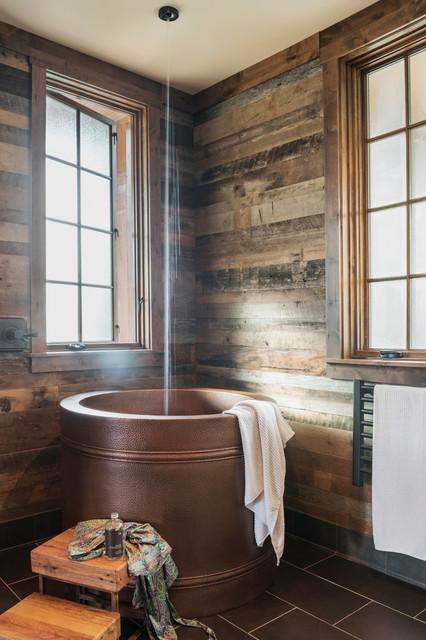 East Tennessee Modern Rustic Rustikal Badezimmer