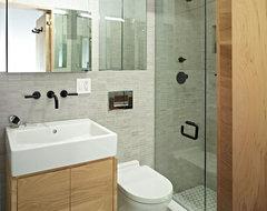 East Village Studio contemporary-bathroom