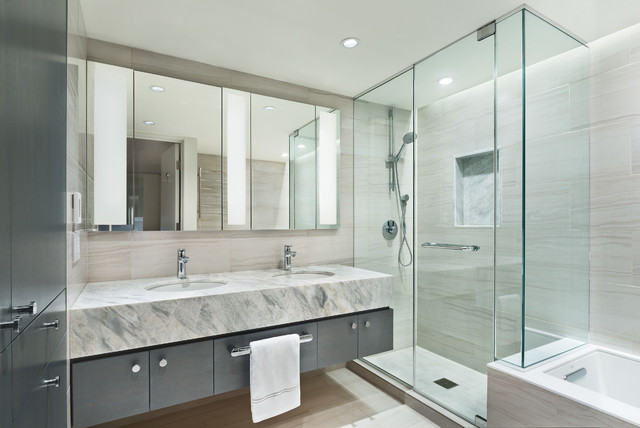 East Village Triplex - Contemporary - Bathroom - New York ...