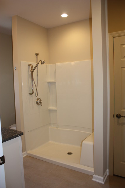 Easy Access Shower Traditional Bathroom New York By Spectrum Construc