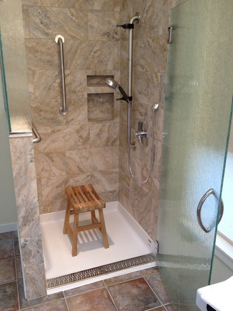 easy access showers transitional bathroom other metro by