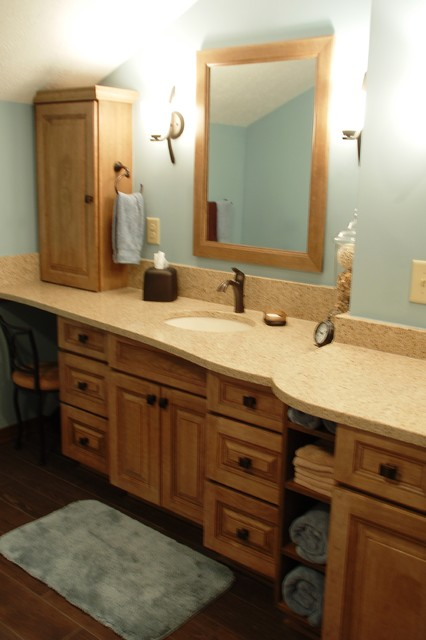Easy Care Walk In Shower With His And Her Vanity Area