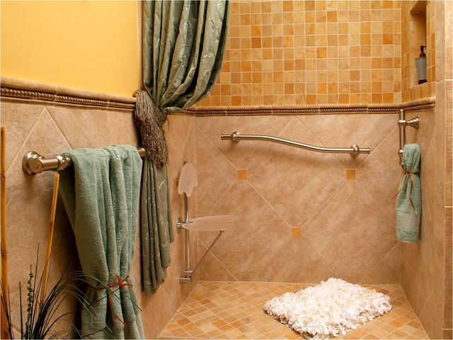 Easy Living Shower eclectic bathroom