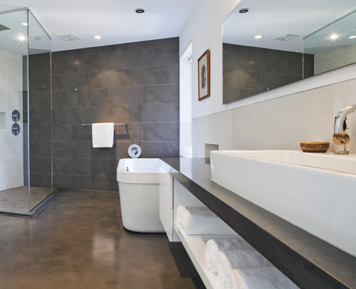 Will Concrete Floors Sweat In A Bathroom When There Is