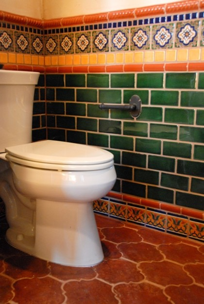 Mexican tile eclectic bathroom austin by clay imports for Talavera tile bathroom designs