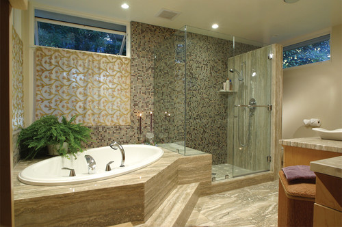 Freed Residence eclectic bathroom