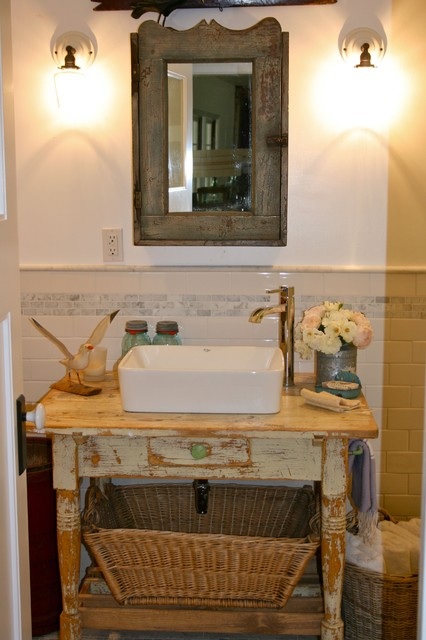 Modern Country Bathroom - Eclectic - Bathroom - los angeles - by Kelley & Company Home