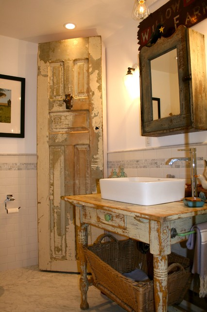 Modern Country Bathroom Eclectic Bathroom Los Angeles By