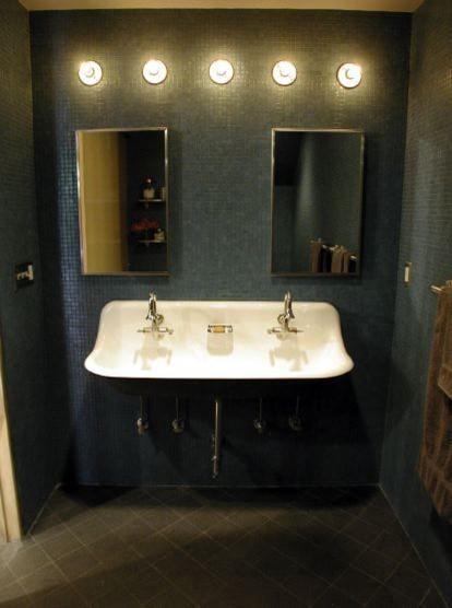 Kohler 320 Brockway Wash Commercial Sink, White 3 faucet holes