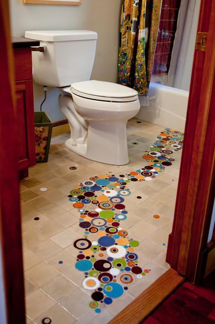 Keller Floor Eclectic Bathroom Other Metro By