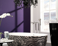 Stone One Zebra eclectic bathroom