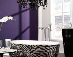 Stone One Zebra eclectic-bathroom