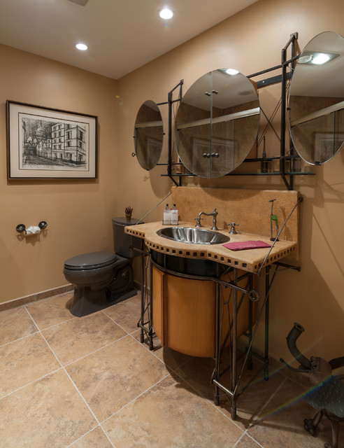 Eclectic Bathroom Remodel In Boca Raton Industrial Bathroom Miami By Allied Kitchen And Bath