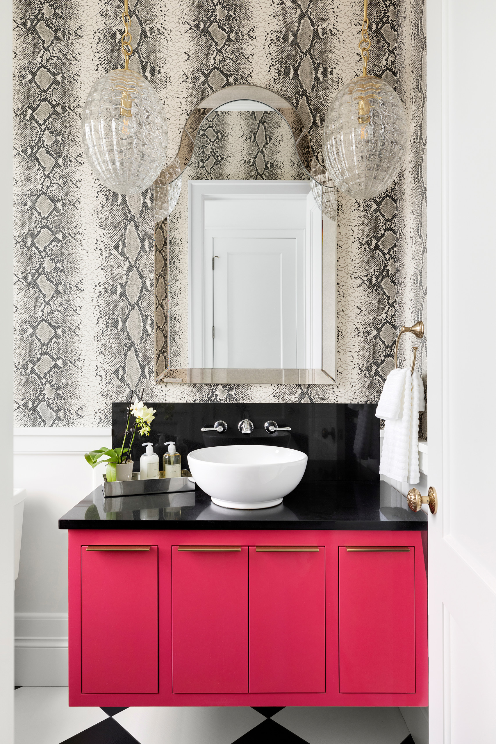 75 Beautiful Pink Bathroom Pictures Ideas February 2021 Houzz
