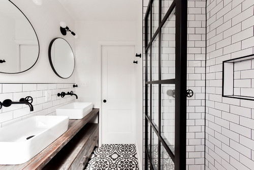 industrial bathroom interiors