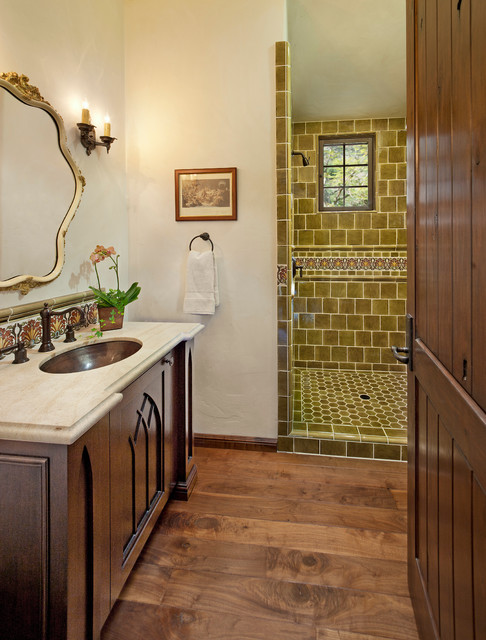 Eclectic Mediterranean Bath Mediterranean Bathroom Santa Barbara By Keeping Interiors